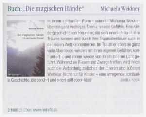 Die magischen Hände - Buchtipp im Reiki Magazin